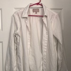 BANANA REPUBLIC - white oxford shirt
